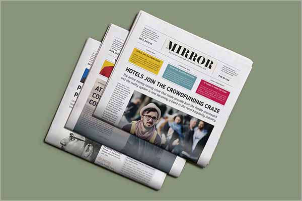 Printable Newspaper Mockup