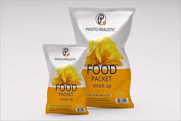 Realistic Chips Bag Mockup