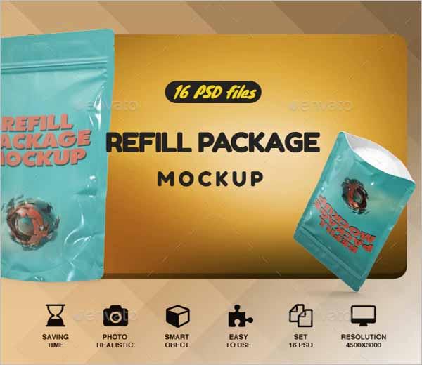 Refill Chips Bag Mockup Design