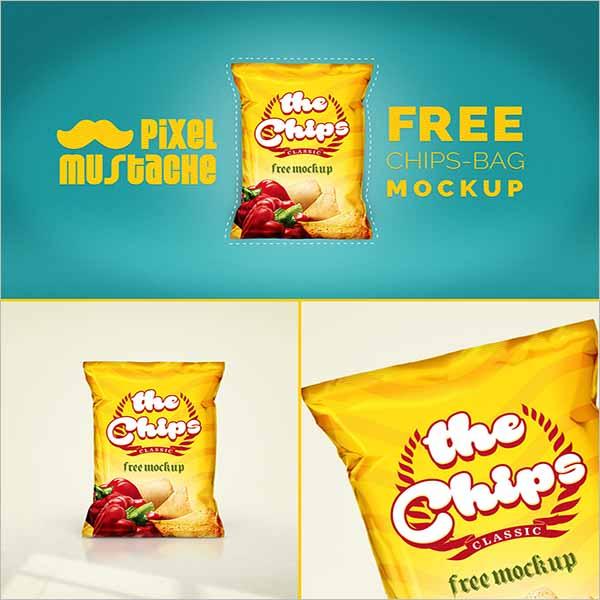 Sample Chips Bag Mockup Download