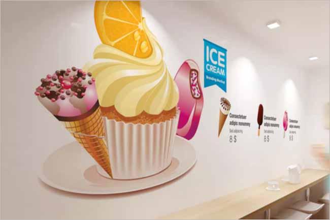 Sample Ice cream Mockup Template