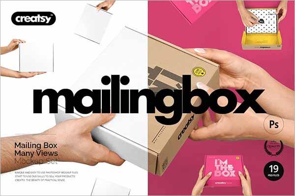 Set Of Mailing Box Design