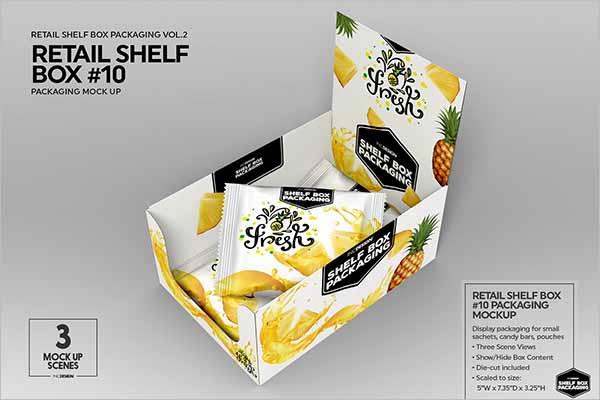 Shelf Box Packaging Design