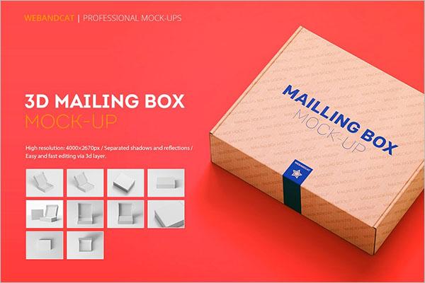 Shipping Gift Box Mockup
