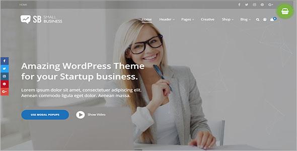 Small Business Modern Blog Website Theme