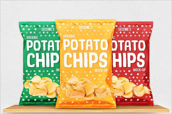 Snack Bag Mockup Design