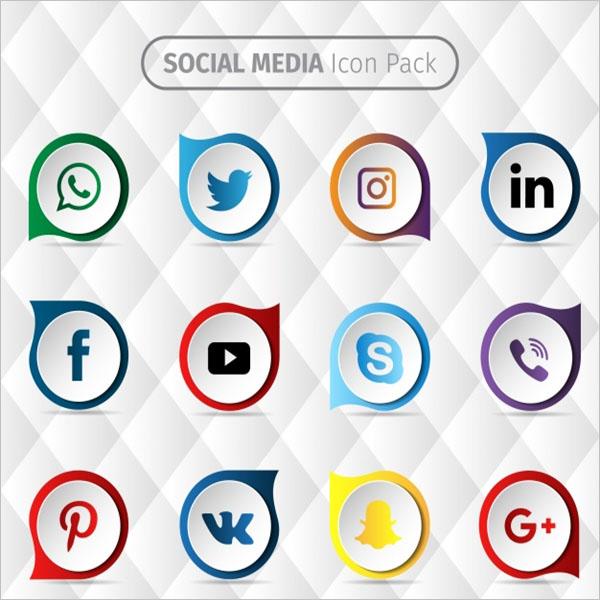Social media icon design Free Vector