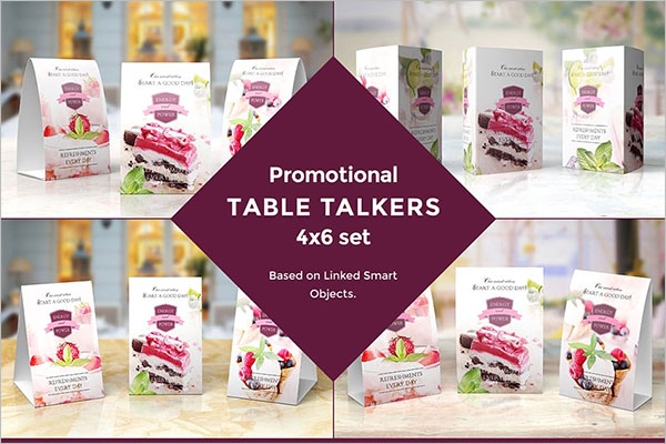 Table Tent Mock-up's Kit
