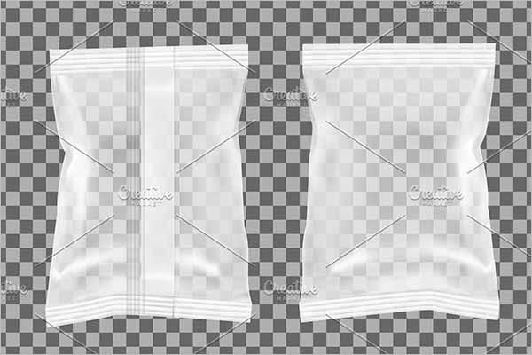 TransparentChips Bag Mockup Design