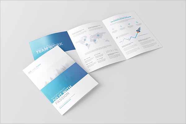 Tri Folded A4 Brochure Mockup Template