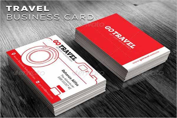 Unique Travel Business Card Design