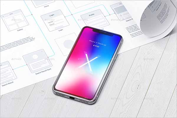 Unique iPhone X Mockup