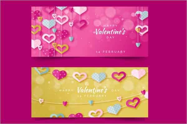 Valentine's Day Sale Banner Design