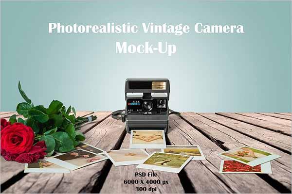 Vintage Camera Mockup PSD Templates