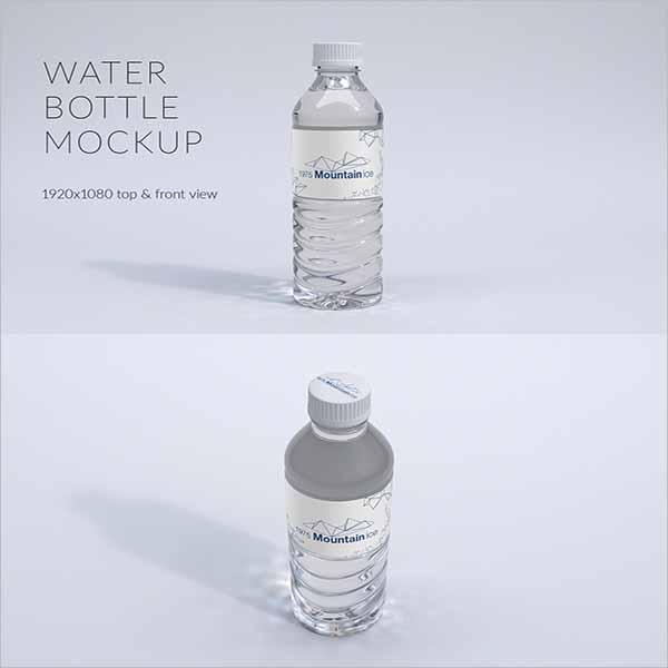 Vintage Water Bottle Mockup Template