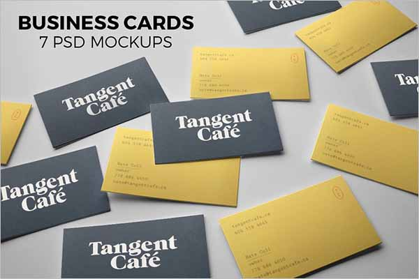 Visiting Card PSD Mockup Design