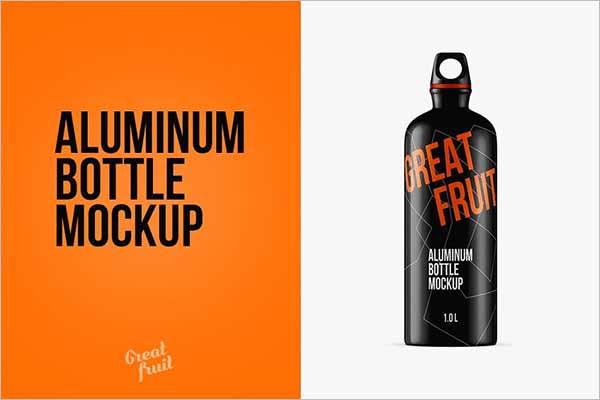 Water Bottle Mockup Download