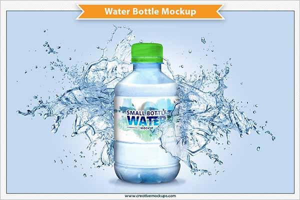 Water Bottle PhotoShop Mockup Design