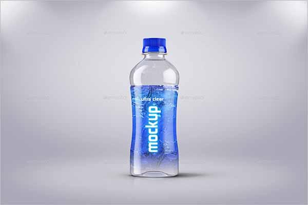 Water Plastic Bottle Mockup Design