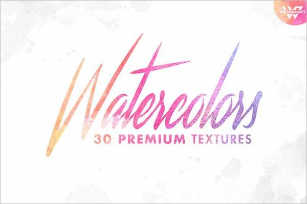 Watercolor Paper Texture Bundle Design