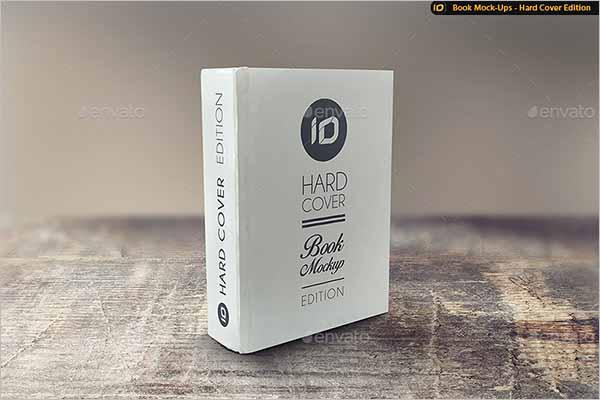 White Book Cover Mockup Design