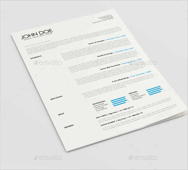 Work Resume Outline Template