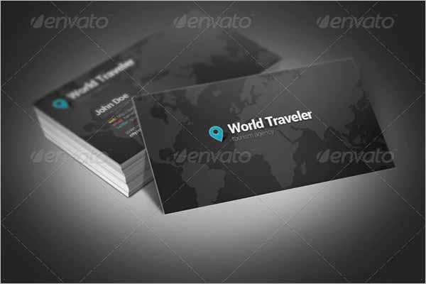 World Traveler Business Card Design