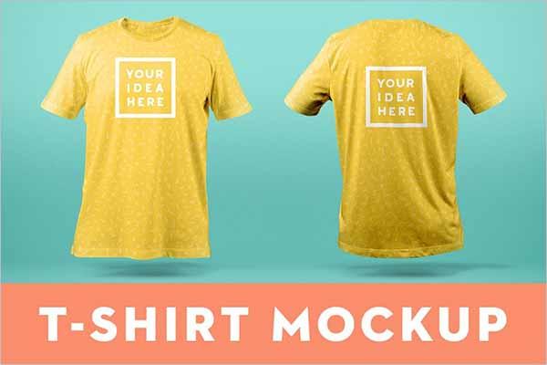 Yellow T-Shirt Mockup Design