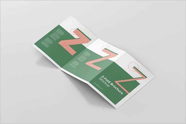 Z-Fold A4 Brochure Mockup Design