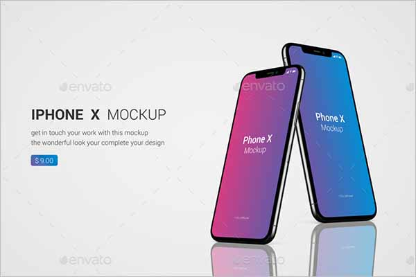 iPhone X Mockup Vector Design