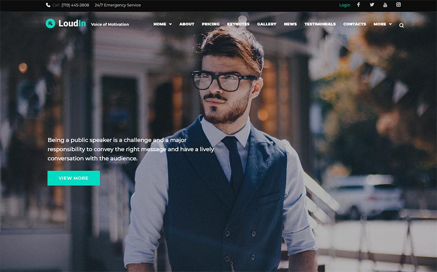 Loudin - Public Speaking Elementor WordPress Theme
