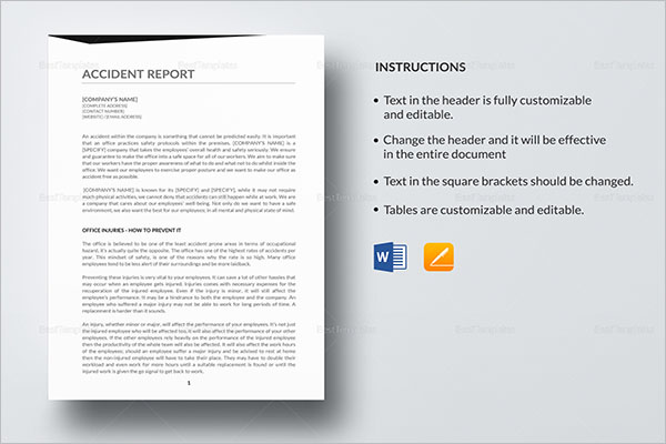 Accident Report Templates