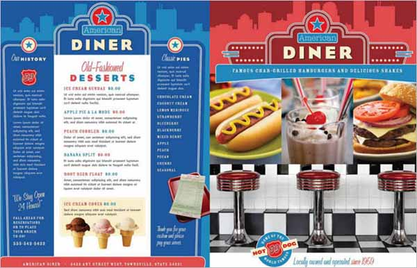 American Restaurant Menu Template
