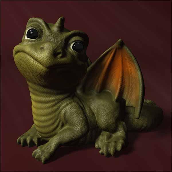Baby Dragon 3D Design