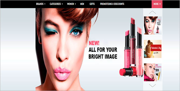 Beauty Products WordPress Theme