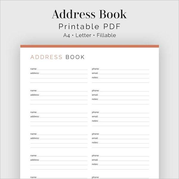 Best Address Book Template