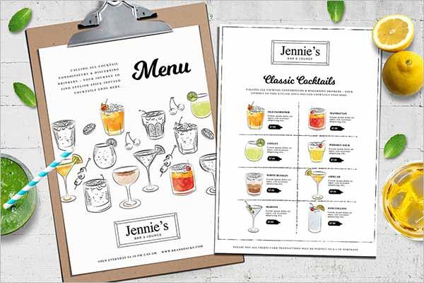 Best Drink Menu Design Templates