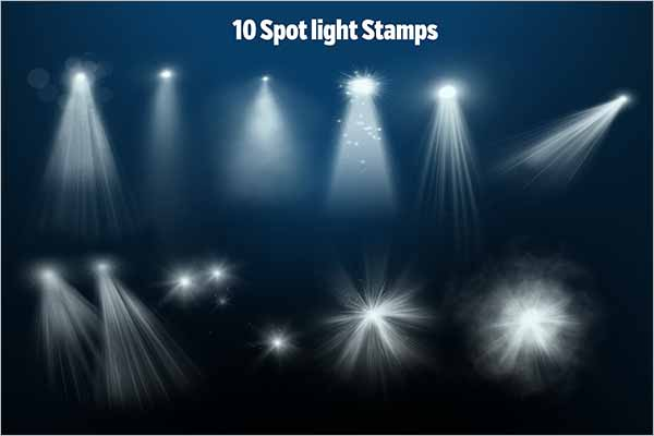 Best Spotlight Photoshop PSD Brushes