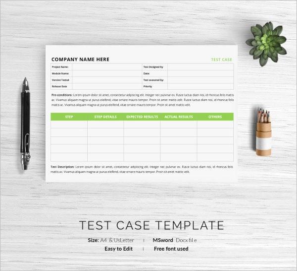 Best Test Case Template