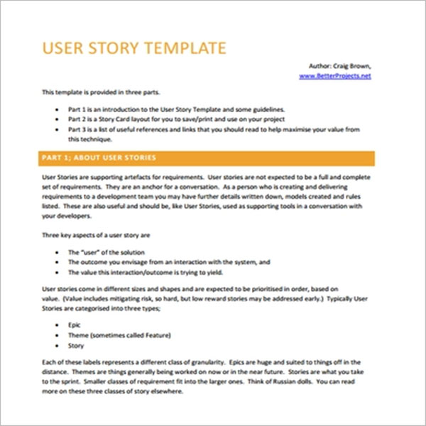 Best User Story Template
