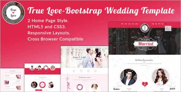 Wedding Bootstrap Template