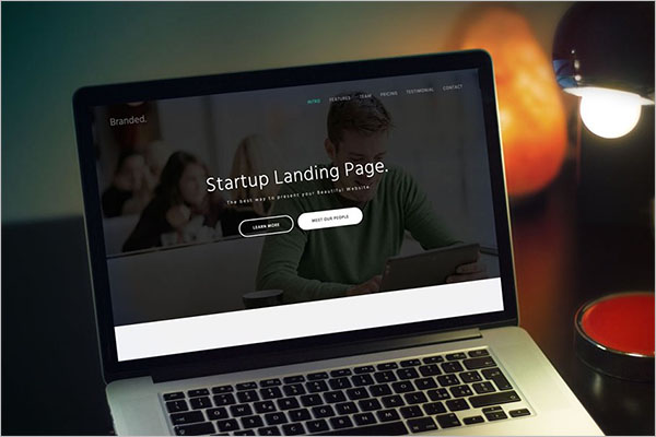 Branded Startup Landing Page