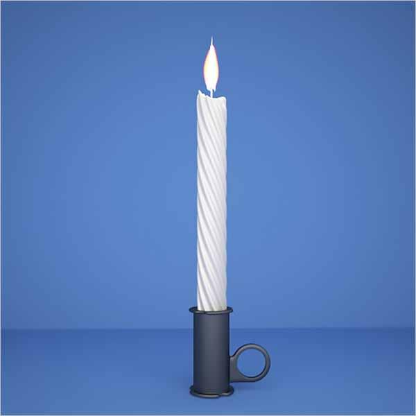 Candle 3D Design Model