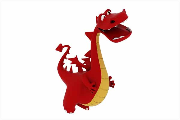 Cartoon Dragon 3D Design