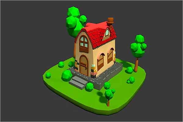 Cartoon Home 3D Design