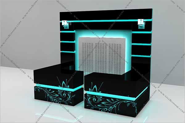 Cash Counter 3D Design