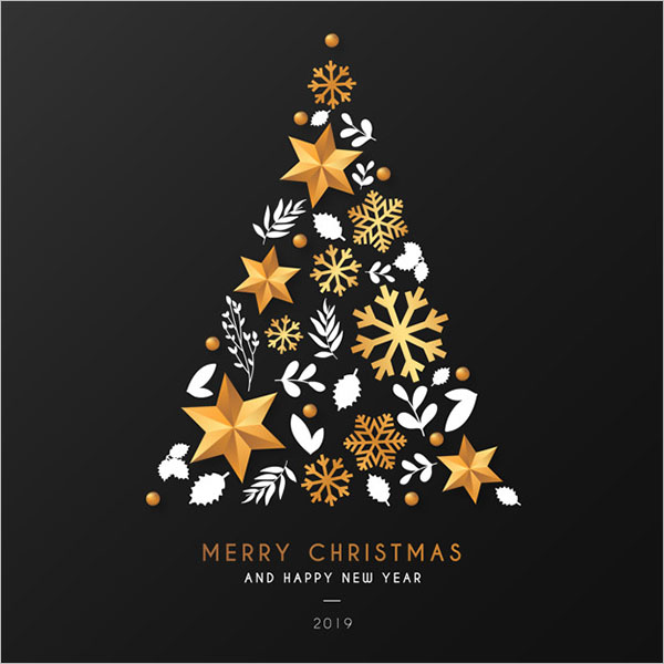 Christmas Tree Design Elegant Design