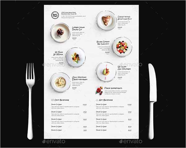 Clean Menu Design Template
