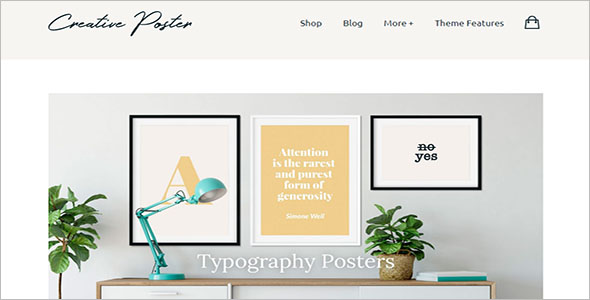 Creative Poster Minimal Woocommerce Theme
