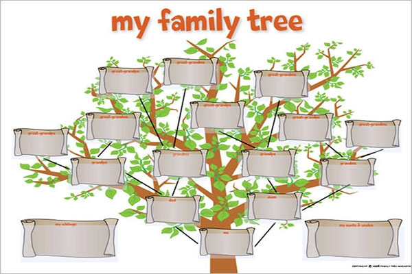 Creative PowerPoint Family Tree Template